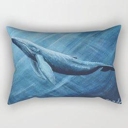 Watercolor Whale Rectangular Pillow