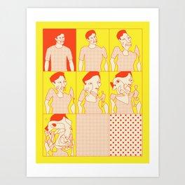 SCRAMBLED (2) Art Print