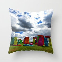 Building Blocks for Baby Giants Throw Pillow