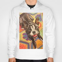 boston terrier Hoodies featuring Boston Terrier by Good Artitude