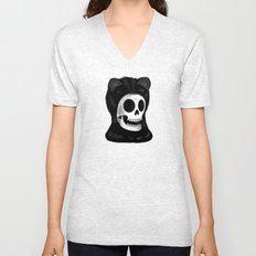 I came here to take you to the purrrrrgatory Unisex V-Neck