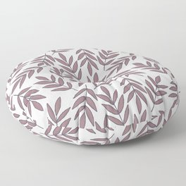 Mauve pink brown modern hand painted fall leaves Floor Pillow