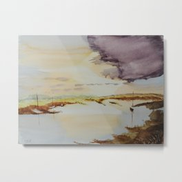 Sky & Boats Metal Print