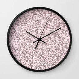 Abstract Drawing 026 Wall Clock
