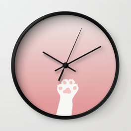 Kitty Cat Paw Wall Clock