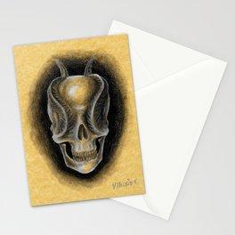 Schädel mit Hörnern Stationery Cards