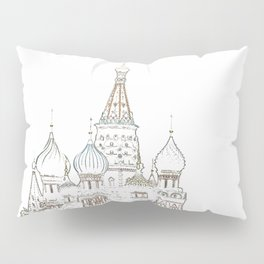 Saint Basil's Cathedral (on white) Pillow Sham