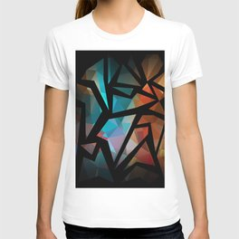 Abstract background of triangles polygon print. T-shirt