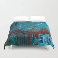 skyline Duvet Covers featuring Skyline by kaybattle