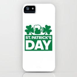 St Patricks Day Costume iPhone Case