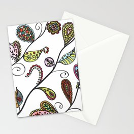 Angled Botanical Doodle Illustration Stationery Cards