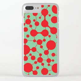 Molecule pattern Clear iPhone Case
