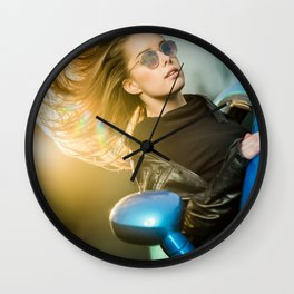blowing in the wind Wall Clock