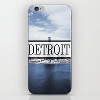 detroit iPhone & iPod Skins featuring Detroit Typography by Evan Smith