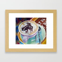Decaf cappuccino Framed Art Print