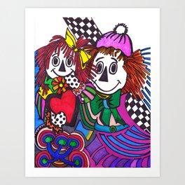 RAGTIME LOVE II Art Print