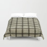 plaid Duvet Covers featuring Plaid by Joanne Anderson
