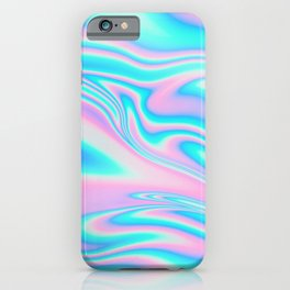 neon holographic iPhone Case