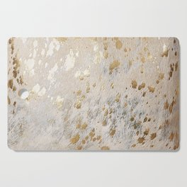 Gold Hide Print Metallic Cutting Board
