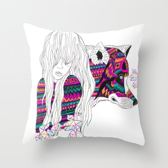 ▲SHE-WOLF▲ Throw Pillow