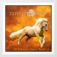 ZF's Golden Storm Art Print