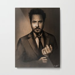 Robert Downey Jr Metal Print
