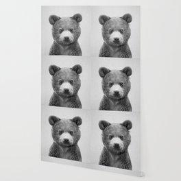 Baby Bear - Black & White Wallpaper