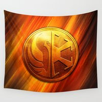 daenerys targaryen Wall Tapestries featuring IMPERIAL LOGO by BeautyArtGalery