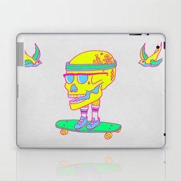 Skull on a skateboard Laptop & iPad Skin
