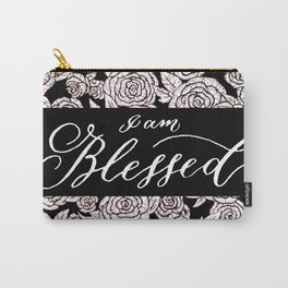 I am Blessed Florals Carry-All Pouch