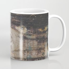 Grungy Scratched Up Wood Texture Coffee Mug
