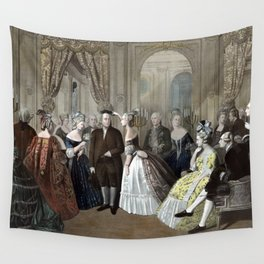 Franklin's Reception At The Court Of France Wall Tapestry