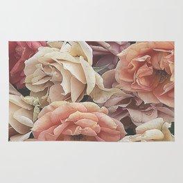 Great Garden Roses,peach Rug