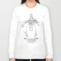 motorbike Long Sleeve T-shirts featuring Motorbike by Jessica Slater Design & Illustration