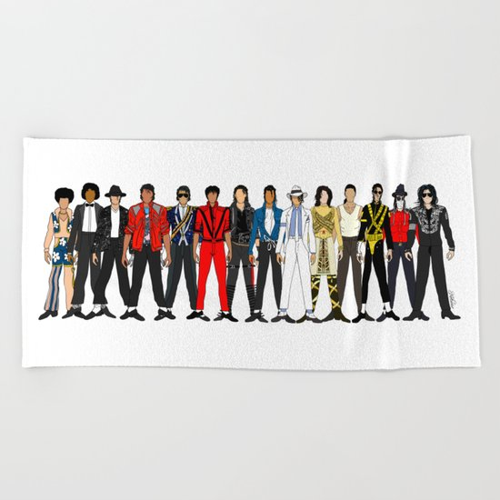 Outfits of King MJ Pop Music Beach Towel