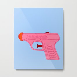 Pink Squirt Gun Metal Print