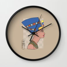 Queen Nefertiti Wall Clock