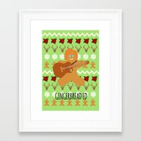 ed sheeran Framed Art Prints featuring Gingerbread Ed II by Laura Maria Designs