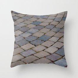 Brick Cobble Stone Path Throw Pillow