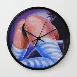 """""""FaceTime"""" by Adam France Wall Clock"""