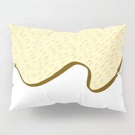 Tiger skin pattern light beige color tone illustration Pillow Sham
