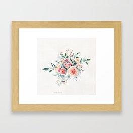Flowers Bouquet Watercolor Framed Art Print
