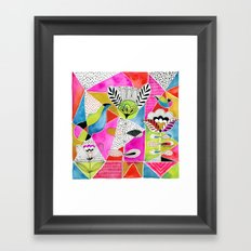 Tulips and Triangles Framed Art Print