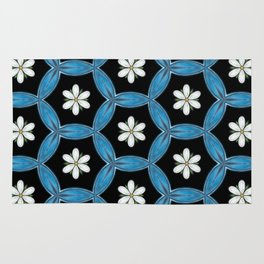 hippie flower pattern Rug