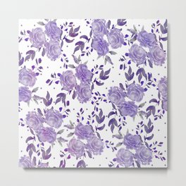 Bouquet of Purple Roses Metal Print