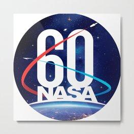 NASA's Official 60th Anniversary Logo Metal Print