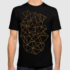 Abstraction Outline Black MEDIUM Mens Fitted Tee