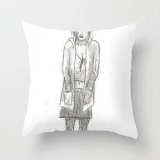 Black Days (sketch) Throw Pillow