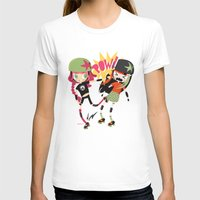 roller derby T-shirts featuring It's Roller Derby, sweetie! by Irene Dose