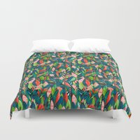 jungle Duvet Covers featuring Jungle by The Patternbase